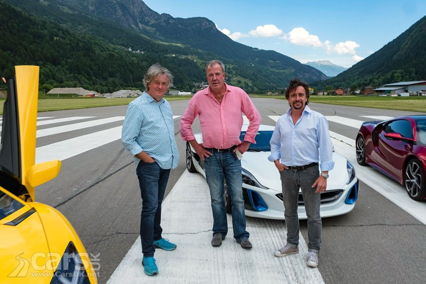 The Grand Tour Series 2 kicks off in Switzerland with ICE, Hybrid and EV Supercars