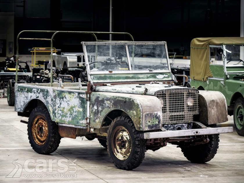 1948 Land Rover LAUNCH car being restored by JLR Classic