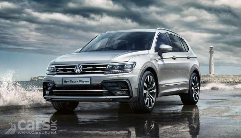 volkswagen tiguan allspace and t roc get the r line treatment cars uk. Black Bedroom Furniture Sets. Home Design Ideas