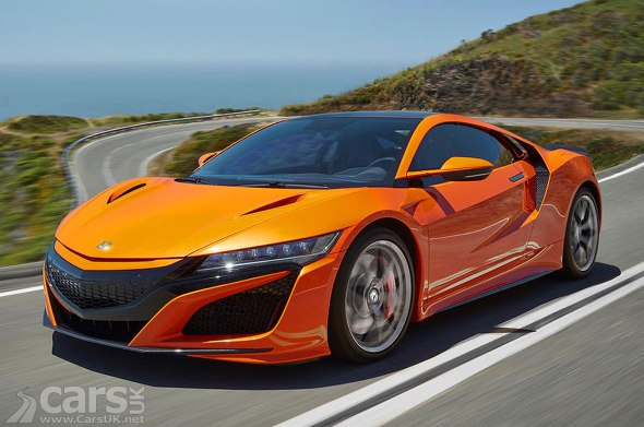 2019 Honda NSX in orange