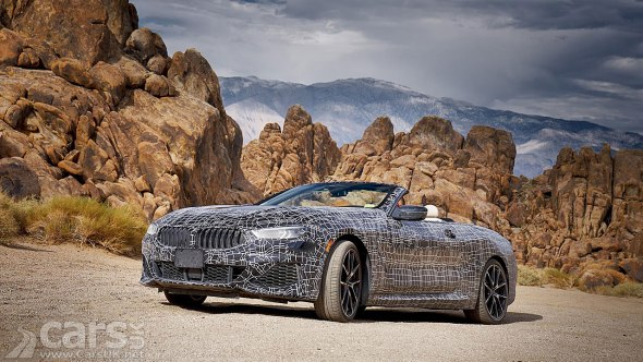 BMW 8 Series Convertible testing in Death Valley