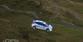 Watch a rally-spec Ford Fiesta FLY down a mountain in Wales