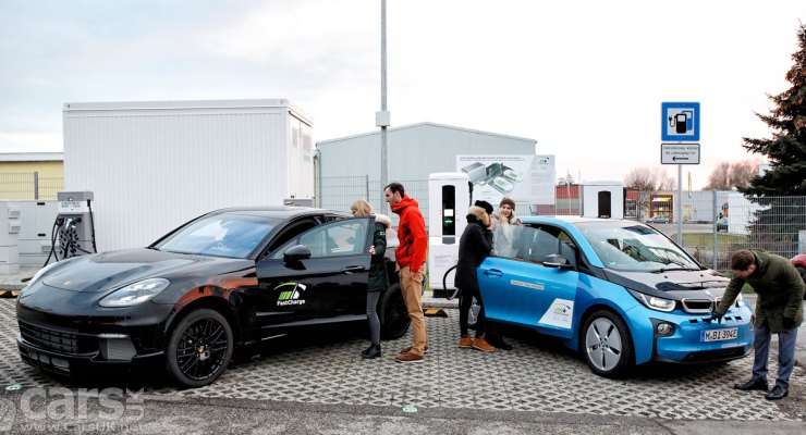 BMW and Porsche show 'FASTCHARGE' 450kW Electric Car Charging