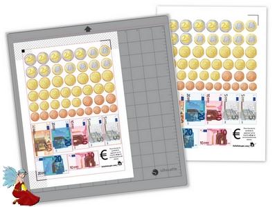 Planche de monnaie à découper