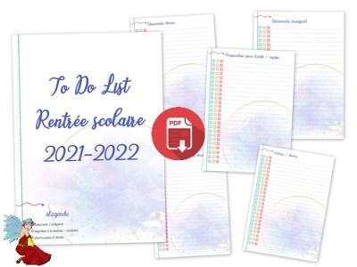 To Do List rentrée 2021-2022
