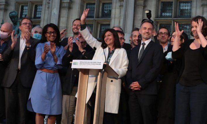 Prefeita de Paris, Anne Hidalgo. Foto: AFP.