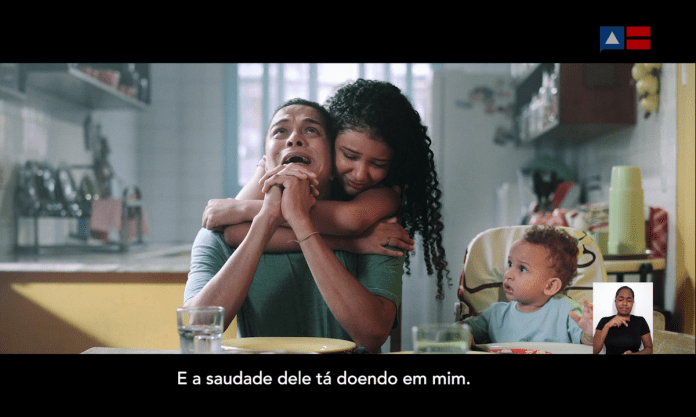 Bahia government advertisement warns of the pain of those who lost relatives to Covid-19. Photo: Reproduction