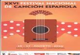 Cartel del XXVI Festival Nacional de Canción Española de Molino Derribao