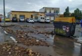Plaza del Hondo en El Algar donde se han contabilizado 300 litros acumulados en las últimas horas