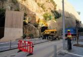 Actuaciones de urgencia para la retirada de rocas en la calle Gisbert