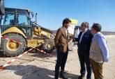 Inicio de las obras de emergencia en el Paseo Marítimo de Los Nietos