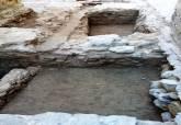Aparición de restos cerámicos y un osario en el Anfiteatro Romano