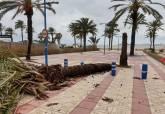 Incidencias provocadas por el temporal en las playas del litoral cartagenero