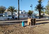 Actuaciones de cara a la Semana Santa en las playas del Mar Menor