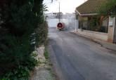 Desinfección de agricultores en El Algar