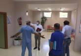 Visita de Manuel Padín a los consultorios médicos