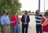 Visita a la zona de La Vaguada donde se va a construir una nueva rotonda