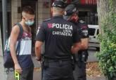 Controles de Policía Local para vigilar el correcto uso de la mascarilla