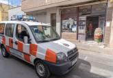 El vehículo de Protección Civil recorriendo con megafonía las zonas con mayor tasa de contagios
