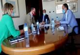 Reunión celebrada en Murcia con el consejero sobre el juzgado de lo mercantil