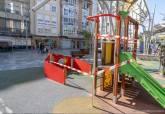 Parques infantiles precintados por el Ayuntamiento