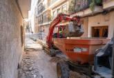 Obras de mejora en la calle Saura