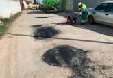 Obras de bacheado y asfaltado