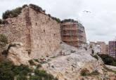 Obras en el muro noroeste del Fuerte de Despeñaperros