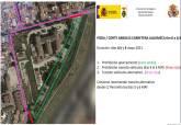 Plano del corte de tráfico en la carretera de La Algameca