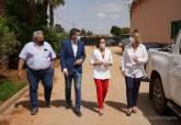 Encuentro con agricultores en una finca de El Algar sobre denominación de origen de la patata