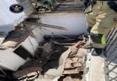 Derrumbe de una planta en un edificio de la Cuesta de la Baronesa