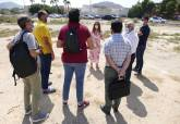 Visita a los terrenos donde se instalará la feria de Carthagineses y Romanos