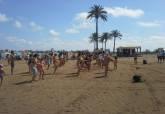 Aerobic y zumba en la playa, en la programación de la Concejalía de Deportes