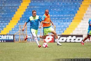 Fonseca afirma que están trabajando fuerte para buscar la regularidad del equipo. Foto: Prensa CSC