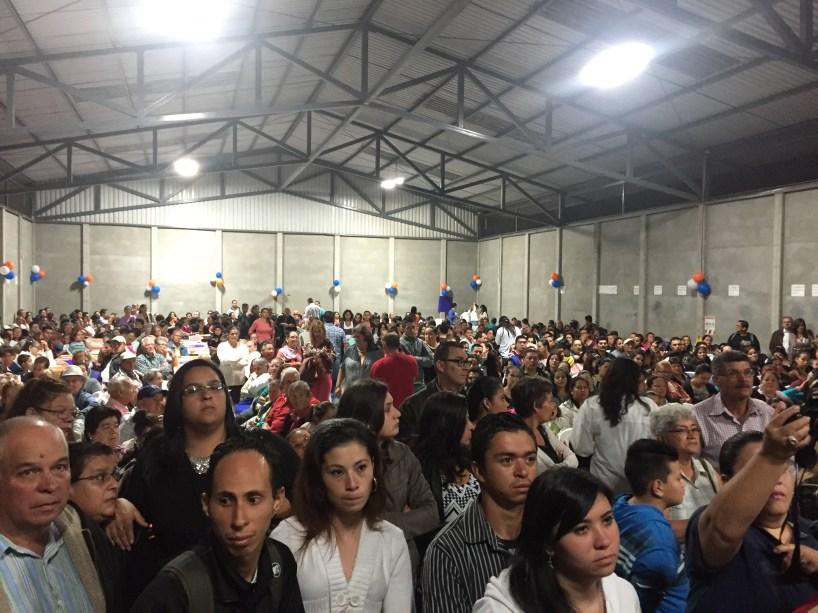 Alrededor de 1000 personas asistieron a la concentración del Partido Unión Guarqueño. Foto: Cartago Hoy