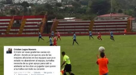 Legionario pide apoyo para el equipo de Turrialba F.C.