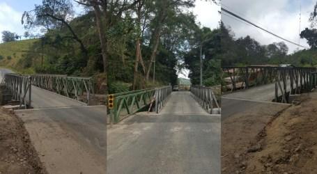 CONAVI habilitó puente en Llano Grande