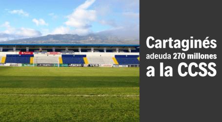 Cartaginés acumula otra millonaria deuda