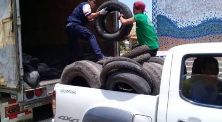 Recolección de llantas en Cartago con el objetivo de eliminar criaderos