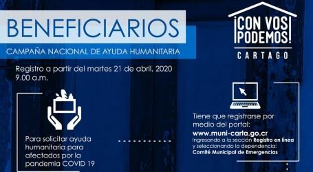 """Municipalidad de Cartago habilitará plataforma digital para ayuda humanitaria de campaña """"Con Vos Podemos"""""""