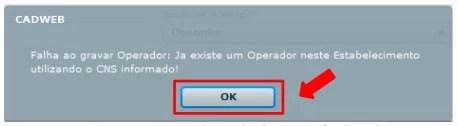 Imagem 27 – Mensagem solicitando informar o CPF do operador