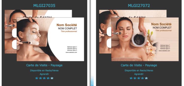 Aide, modèle et exemple Carte de visite massages et bien être