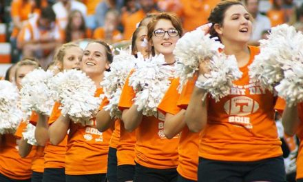 Photo Gallery: Cloudland cheerleaders visit Neyland