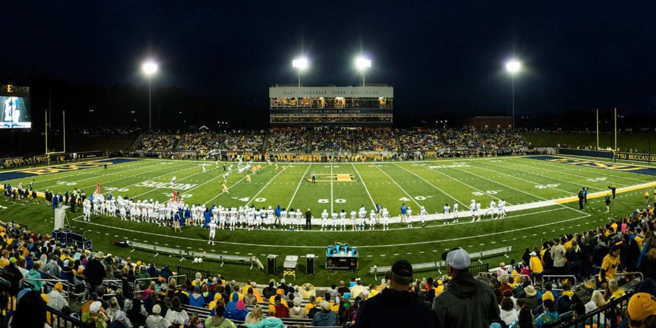etsu releases home football kickoff times - carter county sports