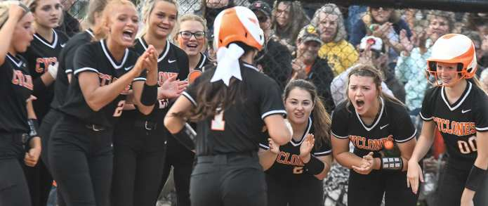 Lady Cyclones Win Two To Claim District 1-AA Title