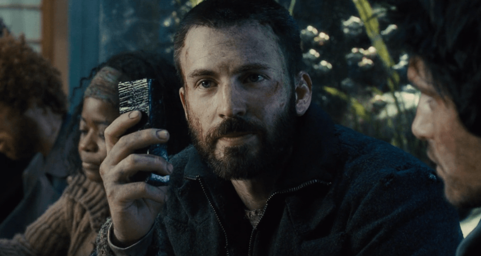 "Chris Evans as the lead in the very underrated Dystopian Film ""Snowpiercer"""