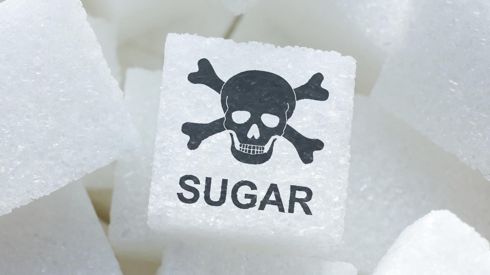Sugar cubes and skull inscription