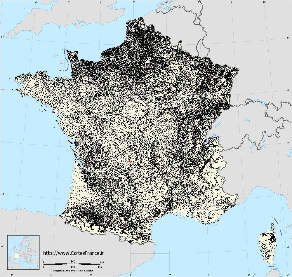 Gourdon-Murat sur la carte des communes de France