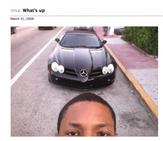 Pharrell Williams Mercedes Benz SLR McLaren Roadster