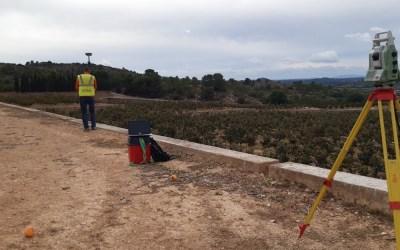 Levantamiento topográfico, transformación y replanteos para nueva plantación.